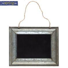 Galvanized Metal Framed Chalkboard