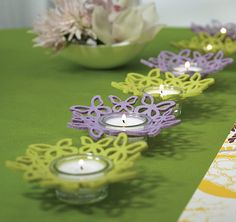 Butterlfy Ring Candle Holder Decorations | Butterfly Candle Favors