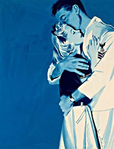 """The House of Googie • lady-presley:   """"Sailor and Woman Embracing"""" by..."""