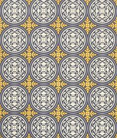 Joel Dewberry Scrollwork Granite Fabric