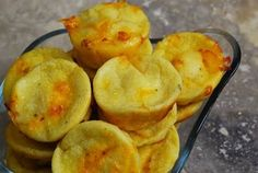 Mini Cheddar Garlic Popovers - perfect for party finger food!