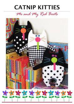 Catnip Kitties PDF Softies Pattern by TheRedBootQuiltCo on Etsy