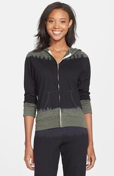 Monrow 'Black Out' Tie Dye Hoodie available at #Nordstrom