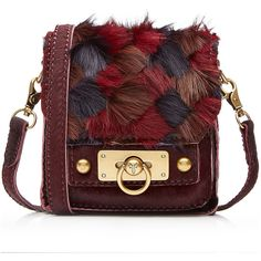 Anna Sui Leather Shoulder Bag Bag ($580) ❤ liked on Polyvore featuring bags, handbags, shoulder bags, red, red leather handbag, pocket purse, leather handbags, colorful purses y genuine leather purse