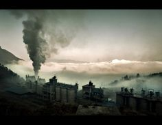 manufacturing : A cement factory in Chongqing, China (living in a cloud of polution)