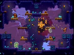 """TowerFall Ascension Developer:@MattThorsonPixel Art:@studioMiniBossSystem:Windows, Mac, Linux, PS4Website:towerfall-game.com Description:""""TowerFall Ascension is the definitive version of the hit archery combat game. Inspired by classics from the golden age of couch multiplayer, it's a 4-player local party game centering around hilarious, intense versus matches. The core mechanics are simple and accessible, but hard to master and combat is fierce. Loot treasure chests for game-changing…"""