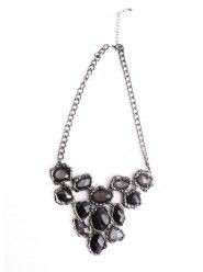 Shades of Gray Gemstone Necklace                                                                                                                                        $35.00