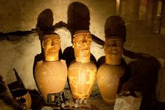 Etruscan canopic jars Ancient Art, Ancient History, Art History, Canopic Jars, Art Eras, Classical Mythology, Toscana, Pottery Designs, Old Art