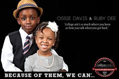 """Little Ossie Davis & Ruby Dee """"A Mind Is A Terrible Thing To Waste"""""""