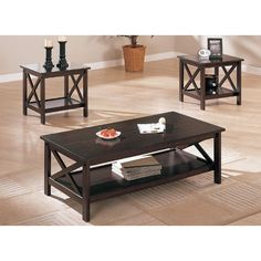 Andover Mills Cochrane 3 Piece Coffee Table Set