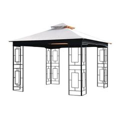 Sunjoy 10 Ft. W x 10 Ft. D Canopy  sc 1 st  Pinterest & Garden Treasures Replacement Canopy for 10-ft x 10-ft Easy-Up ...