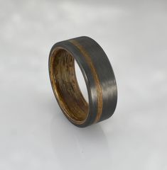 Carbon Fiber Glow Ring Wedding Band Rings