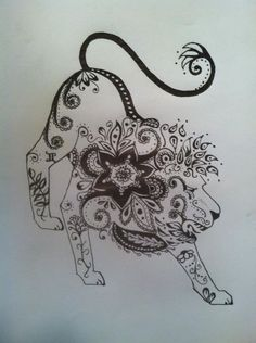 Henna Pen And Ink Intended For A Tattoo Leo