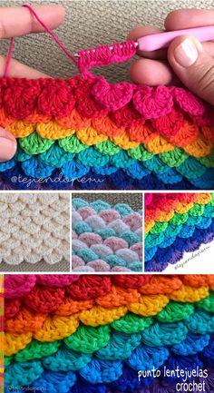 Sequins Stitch Crochet Pattern Tutorial