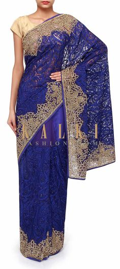 Buy Traditional Indian Clothing & Wedding Dresses for Women Party Wear Dresses, Formal Dresses, Wedding Dresses, Indian Dresses, Indian Outfits, Royal Blue Saree, Saris, Free Shipping, Link