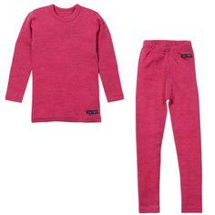 Ella's Wool Base Layer Set (Pink)