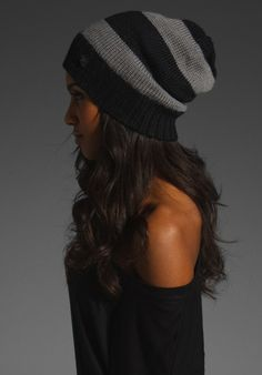 slouchy beanie. i love this and the hair is just like mine.... love the colors of the hat