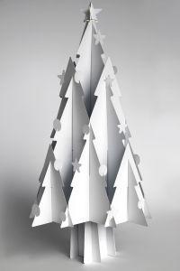 Sapin de Noël en carton, Recycled Cardboard Christmas Trees - Moderno #Noel #Christmas