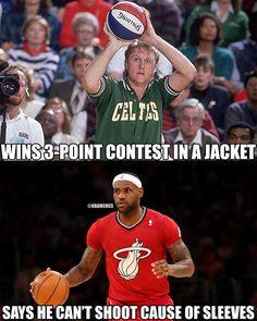 Larry bird and lebron james Funny Nba Memes, Funny Basketball Memes, Sport Basketball, Nfl Memes, Basketball Quotes, Basketball Pictures, Football Memes, Basketball Legends, Basketball Stuff