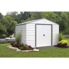 Arrow Vinyl Milford 10 x 12 Shed Attractive horizontal siding combines with a vinyl coating  sc 1 st  Pinterest & Arrow Shed Yardsaver 4 x 7 ft. Shed - The Arrow Shed Yardsaver 4 x 7 ...