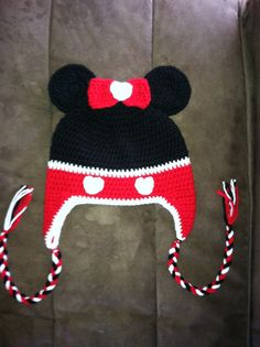 Minnie Mouse Inspired Beanie by April414Creations on Etsy, $15.00