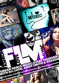 The Penthouse London, Fashion, Love, Music event flyer
