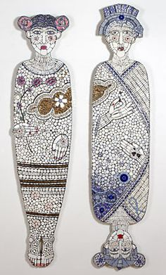 Cleo Mussi: broken pottery mosaic artist