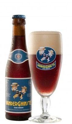 Cerveja VanderGhinste Oud Bruin (Ouden Tripel), estilo Flanders Brown Ale/Oud Bruin, produzida por Brouwerij Bockor, Bélgica. 5.5% ABV de álcool.