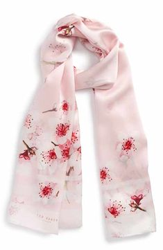2e74c0124133 Ted Baker London Soft Blossom Silk Scarf Silk Shawl