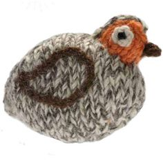 How to knit a toy partridge