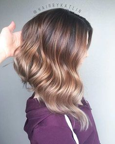 Beige Blonde Balayage Ombre Angled Lob Haircut