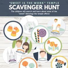 """Sweet is the Work"" Temple Scavenger Hunt - Primary Sharing Time Ideas (October Week 4) - Fun Primary games, teaching ideas, and SO MUCH MORE!"