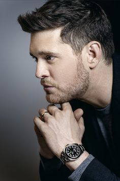 Michael Bublé with the new Rolex Air-King unveiled at Baselworld R C Wahl, official Rolex jeweler Rolex Air King, Michael Buble, Rolex Watches For Men, Luxury Watches, New Rolex, Men's Rolex, Celebs, Celebrities, Beautiful Men
