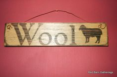 Primitive Sign Wool by RedBarnGatherings on Etsy