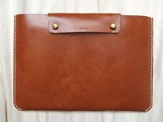 Personalized 13 Macbook Pro / Macbook Air Case - Leather - Hand Stitched