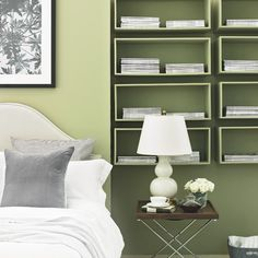 Apple green bedroom