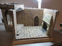 Dollhouse Miniature Artisan Karin Foster Tudor Castle Room Box 1:12 scale