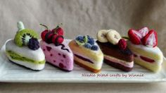 Made to order Needle felted cakes by FunFeltByWinnie on Etsy