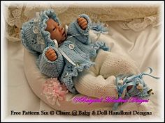 Baby and Doll Hand Knit Designs for Sale Knitting Dolls Clothes, Baby Doll Clothes, Knitted Dolls, Baby Dolls, Crochet Dolls, Barbie Clothes, Doll Patterns Free, Jumper Patterns, Doll Clothes Patterns