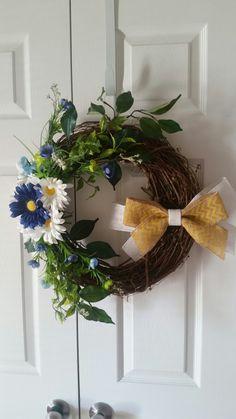 My first flower wreath