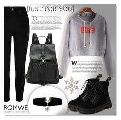 """Romwe 8"" by miralemaa ❤ liked on Polyvore featuring River Island, Balmain and romwe"