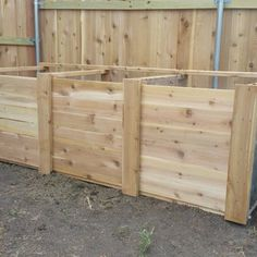 The Best Triple Compost Bin : 5 Steps (with Pictures) - Instructables Build Compost Bin, Homemade Compost Bin, Wooden Compost Bin, Garden Compost, Kitchen Waste, Backyard Landscaping, Landscaping Ideas, Growing Vegetables, Dream Garden