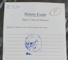 History Exam Win or Fail? by serkan - A Member of the Internet's Largest Humor Community Kids Test Answers, Funny Test Answers, Math Answers, Funny Quotes, Funny Memes, Jokes, It's Funny, Funny Math, Funny Troll