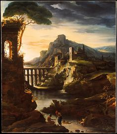 Théodore Gericault (French, 1791–1824). Evening: Landscape with an Aqueduct, 1818. The Metropolitan Museum of Art, New York. Purchase, Gift of James A. Moffett 2nd, in memory of George M. Moffett, by exchange, 1989 (1989.183)