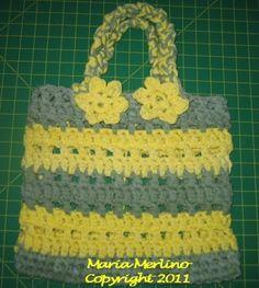 Crochet Sturdy Tote in T-Shirt Spaghetti Yarn