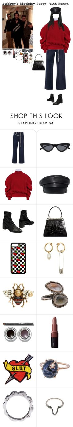 """Jeff's Birthday Party With H."" by tytityn ❤ liked on Polyvore featuring Miaou, A.W.A.K.E., Dsquared2, Miista, Brooks Brothers, Gucci, Kimberly McDonald, Bobbi Brown Cosmetics, Maison De Morgana and Andrea Fohrman"