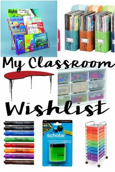 Classroom wishlist for awesome back to school supplies! I can't wait to organize my classroom!