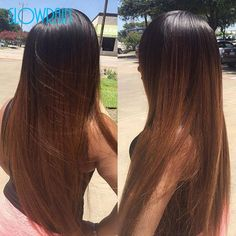 129.20$  Buy now - http://alitrs.worldwells.pw/go.php?t=32776545670 - 130% Density #1b/#30 Ombre Wigs For Black Women Silky Straight Wig Ombre Lace Front Wigs Brazilian Full Lace Wigs With Baby Hair 129.20$