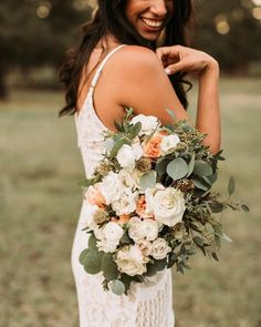 51 Gorgeous Summer Wedding Bouquets ❤ gorgeous summer wedding bouquets creams roses with greens carmela joy #weddingforward #wedding #bride Summer Wedding Bouquets, Wedding Flowers, Cream Roses, Summer Flowers, Wild Flowers, Getting Married, Floral Arrangements, Wedding Cakes, Wedding Planning