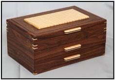 Walnut & Curly Maple Jewelry Box